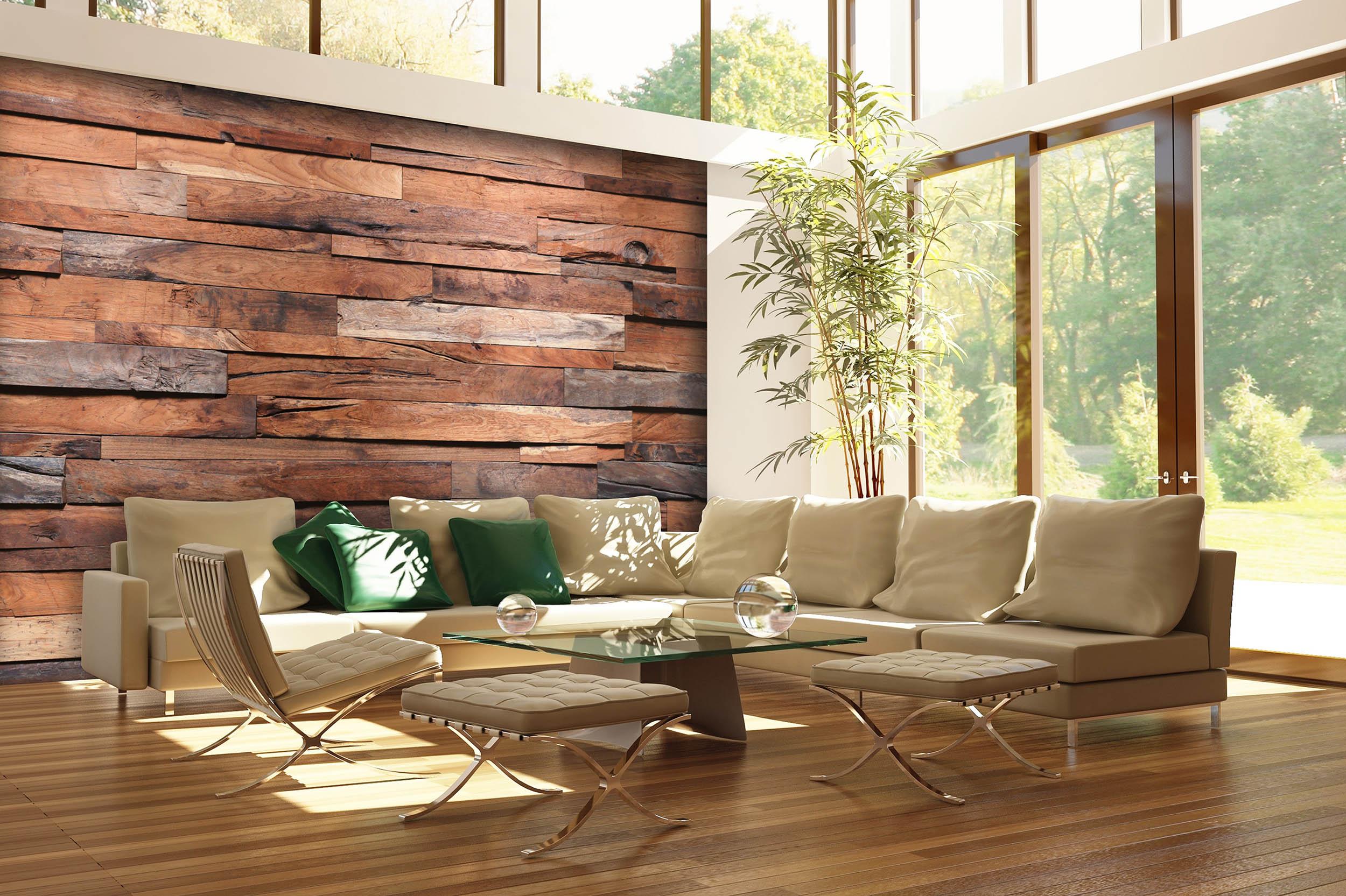 fototapete wooden wall 366 x 254cm bretterwand holz. Black Bedroom Furniture Sets. Home Design Ideas