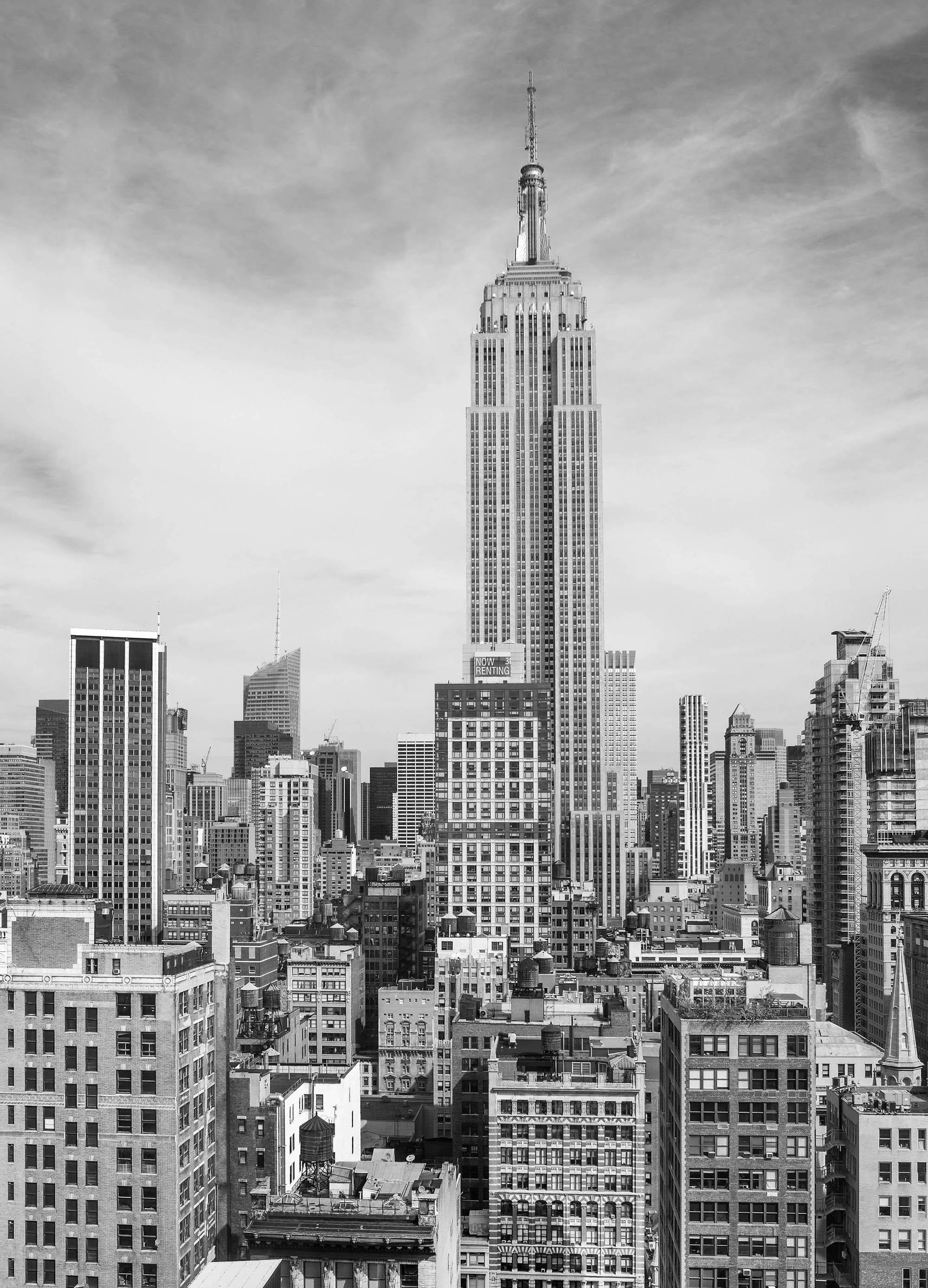 Fototapete skyline schwarz weiß  Fototapete EMPIRE STATE BUILDING 183 x 254 cm New-York, Skyline ...