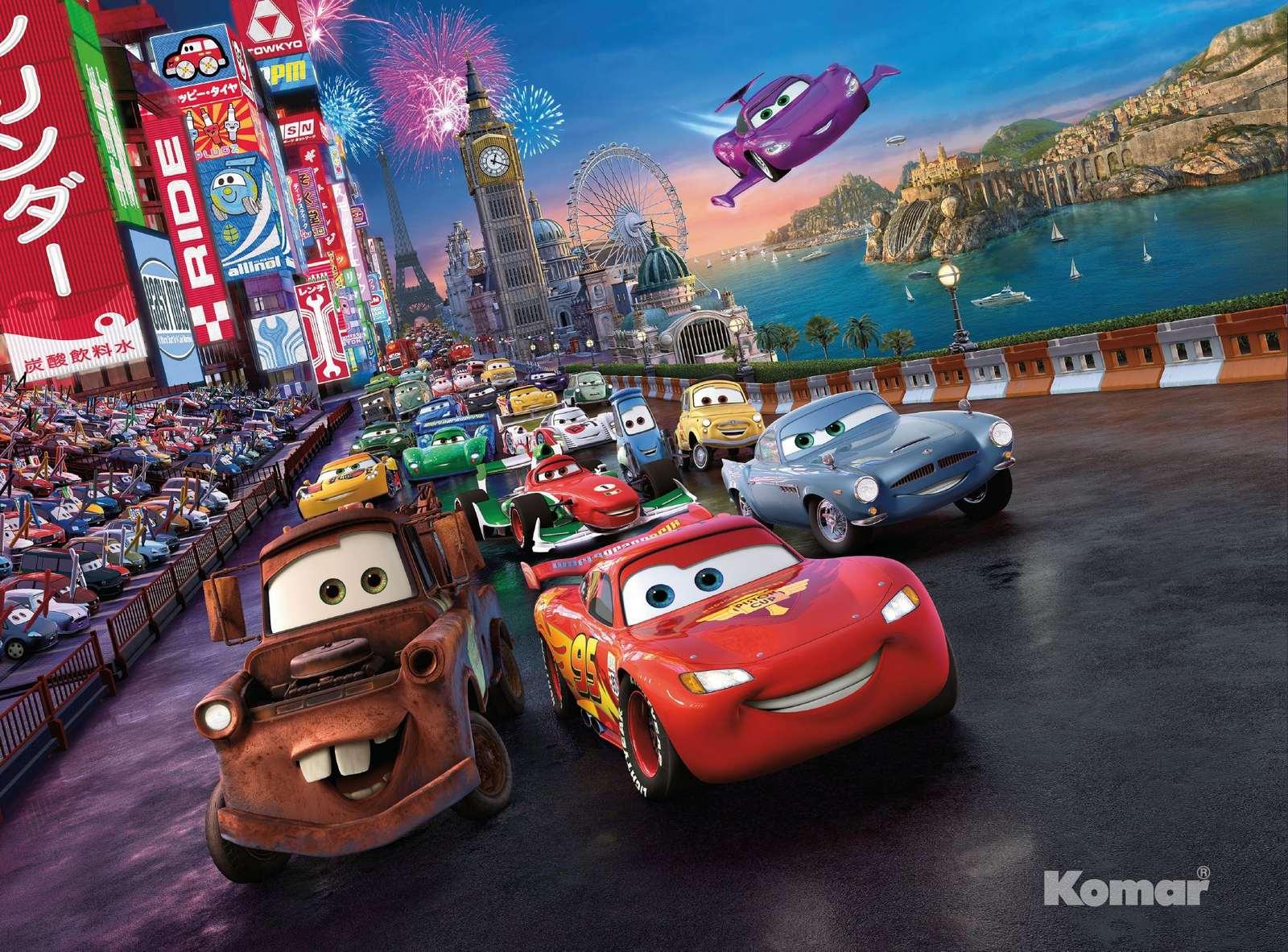 Fototapete Kindertapete CARS RACE 254x184 Disney Cartoon ...