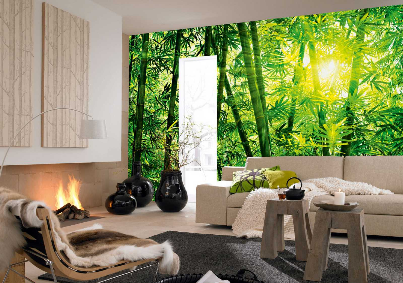 fototapete bamboo forest 366x254 bambus wald in asien. Black Bedroom Furniture Sets. Home Design Ideas