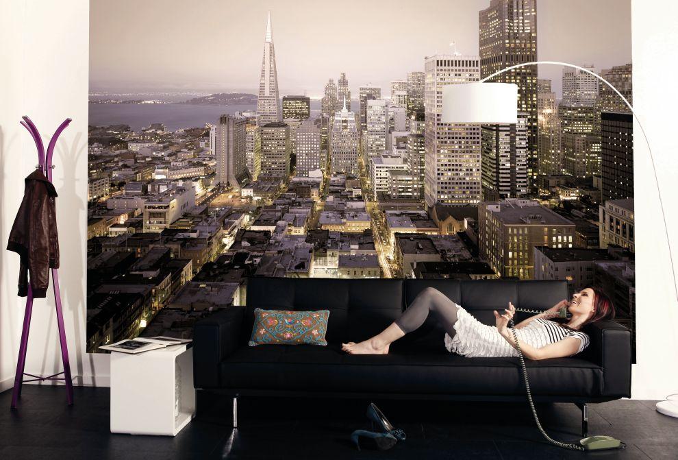 Fototapete skyline  Fototapete URBAN 368x254 City Skyline New York San Francisco ...