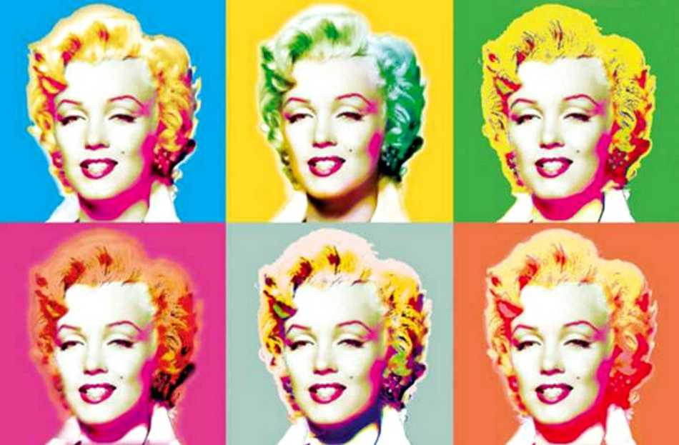fototapete marilyn design 175x115 monroe bunte popart wie. Black Bedroom Furniture Sets. Home Design Ideas
