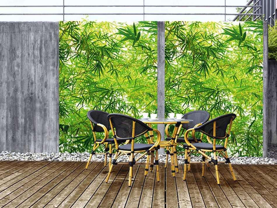 Fototapete bamboo 183x254 gr ner bambus wald forest asien for Fototapeten vliestapeten