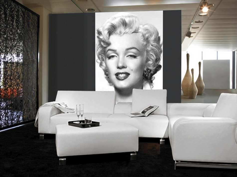 fototapete marilyn monroe 183x254 sw foto superstar norma. Black Bedroom Furniture Sets. Home Design Ideas