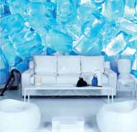 blue wonder, photomural Lust, icecubes.